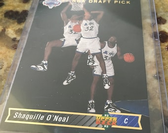 Shaq Basketball Card Etsy