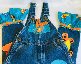 45ce3c58a48 Pooh overalls | Etsy