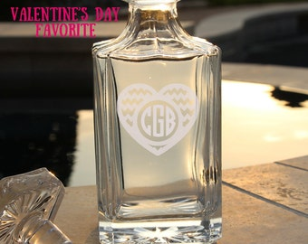 Valentines Day, Valentines Day Gift for Him, Whiskey Decanter, Decanter, Valentines Day Gift Idea, Valentines Day for Him, Be My Valentine