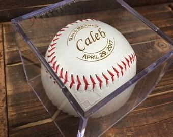 Ring Bearer Gift Ideas for Boys, Personalized Laser Engraved Baseball, Ring Security, RingBearer Gift, Jr Groomsmen Gift, Junior Groomsman
