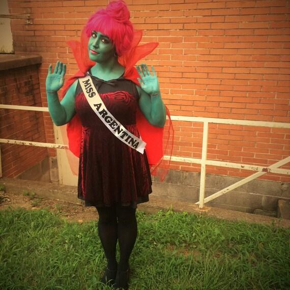 & Beetlejuice inspired Receptionist Miss Argentina Costume