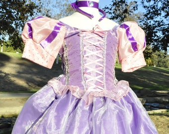 Princess Rapunzel costume, Tangled Costume Halloween costume, Disneyland trip Halloween costume, Princess Birthday dress princess dress