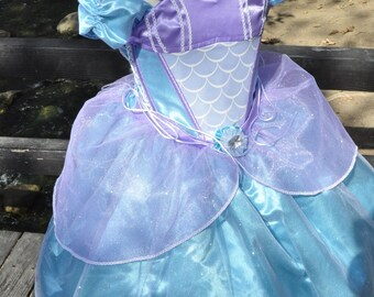 The Little Mermaid Princess Ariel  grand ball dress, Costume Halloween costume, Disneyland trip Halloween costume princess party