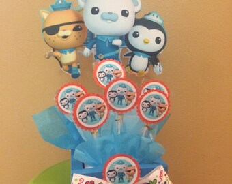 Octonauts Centerpiece, Candy Centerpiece, Kwazii, Barnacles and Peso