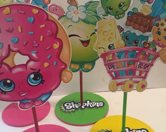 Shopkins party centerpieces , shopkins room decor , shopkin