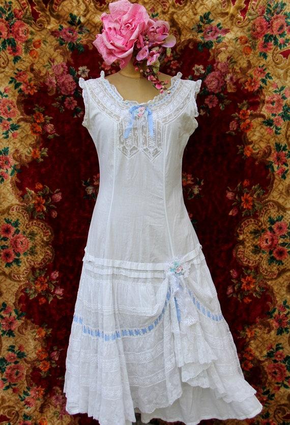Genuine Victorian Cotton Lace Petticoat Corset cov