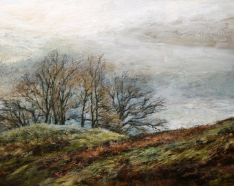 Lake District Landscape Giclée Fine Art Print from Original Oil Painting - National Park, Cumbria from Original British Countryside Painting