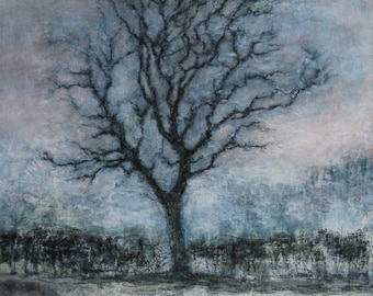 The Ash Tree Yorkshire Dales Giclée Art Print from Original Oil Landscape Woodland Tree Painting Leyburn Bedale