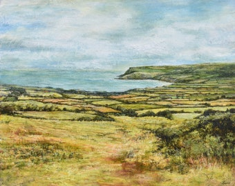 First Glimpse of the Sea Signed Giclée Fine Art Print Robin Hoods's Bay, Ravenscar, Scarborough and Whitby, North Yorkshire Coast and Moors