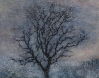 Original Oil Painting The Ash Tree