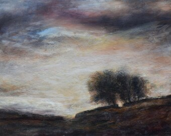 The Stars and the Heavenly Night Skies Signed Giclée Fine Art Print from Original Landscape Oil Painting Bishopdale, The Yorkshire Dales