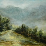 Lake District Mountains Art Print / Cumbria /Troutbeck/  Ambleside from Original Oil Landscape Painting