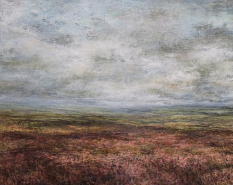 North Yorkshire Moors, Signed Art Wall Print from Original Oil Painting, Castleton, Rosedale, Grosmont, Yorkshire Coast, Moorland Heather