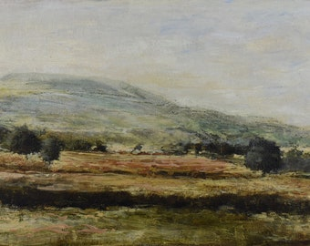 Midsummer Pastures Landscape Signed Giclée Fine Art Print from Original Oil  Painting of Penhill Wensleydale in England, The Yorkshire Dales
