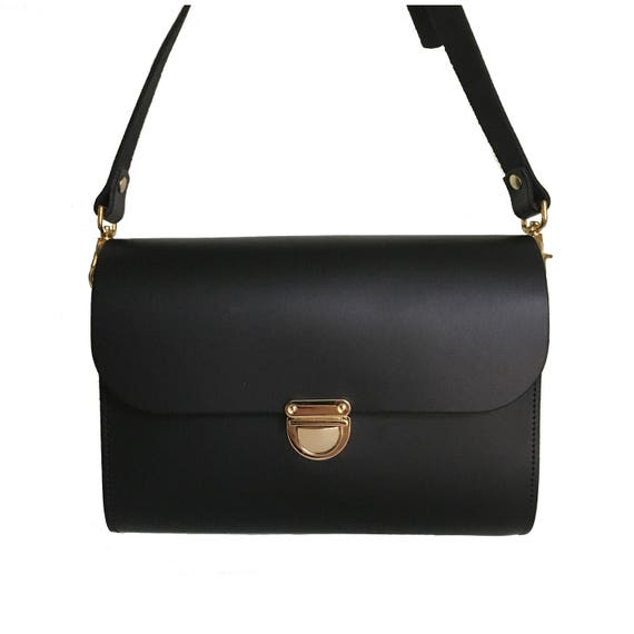 31f4b83824 Black Leather Clutch Bag Handmade In Uk Small Black Bag | Etsy