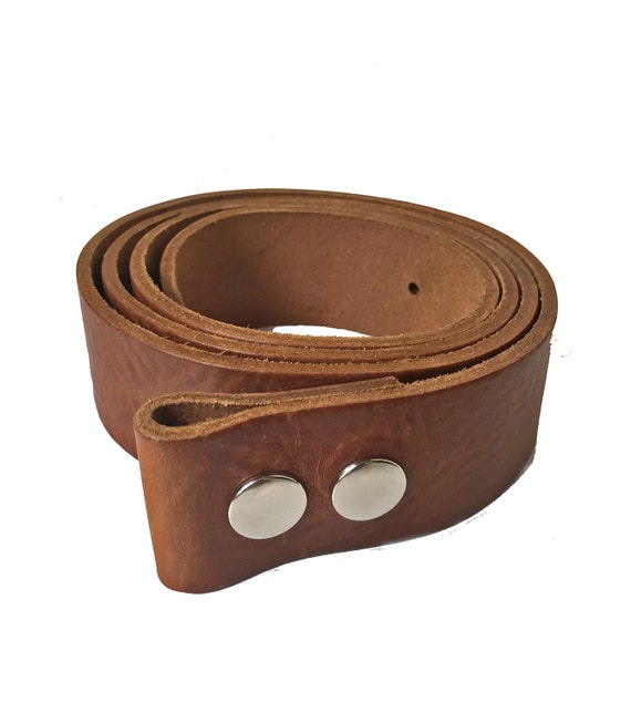 """Handcrafted Made in USA Natural Cowhide Leather with Roller Buckle 1-1//2/"""" NEW"""