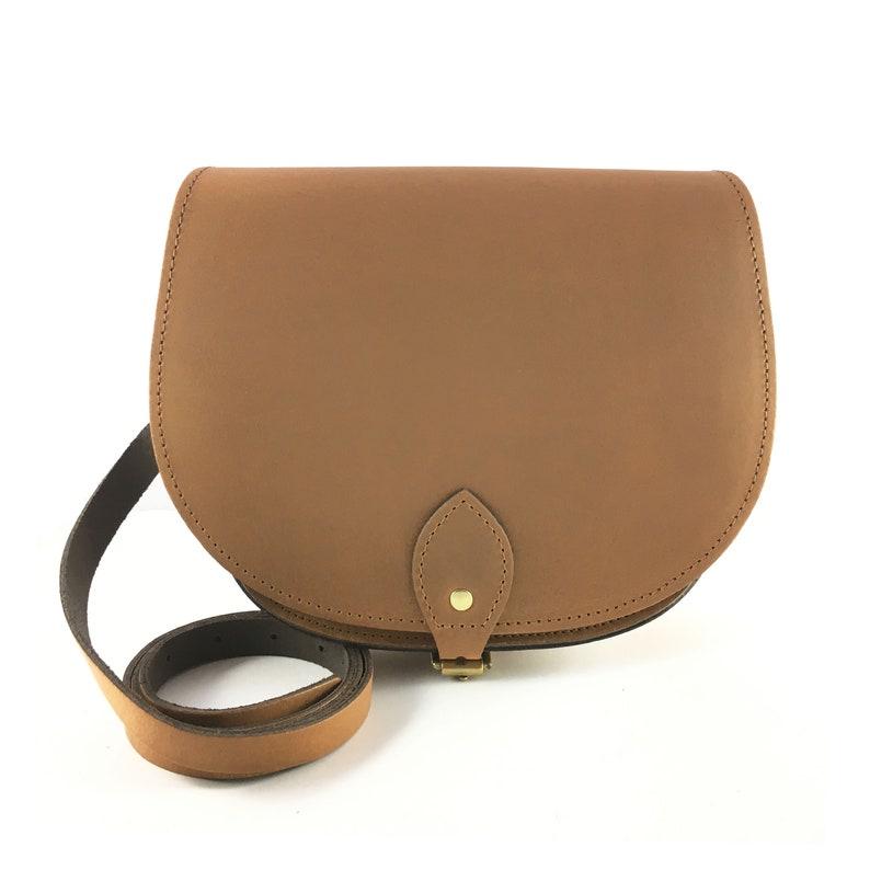 7ff32ebff7 Vintage Brown Saddle Bag Handmade Brown Bag Brown