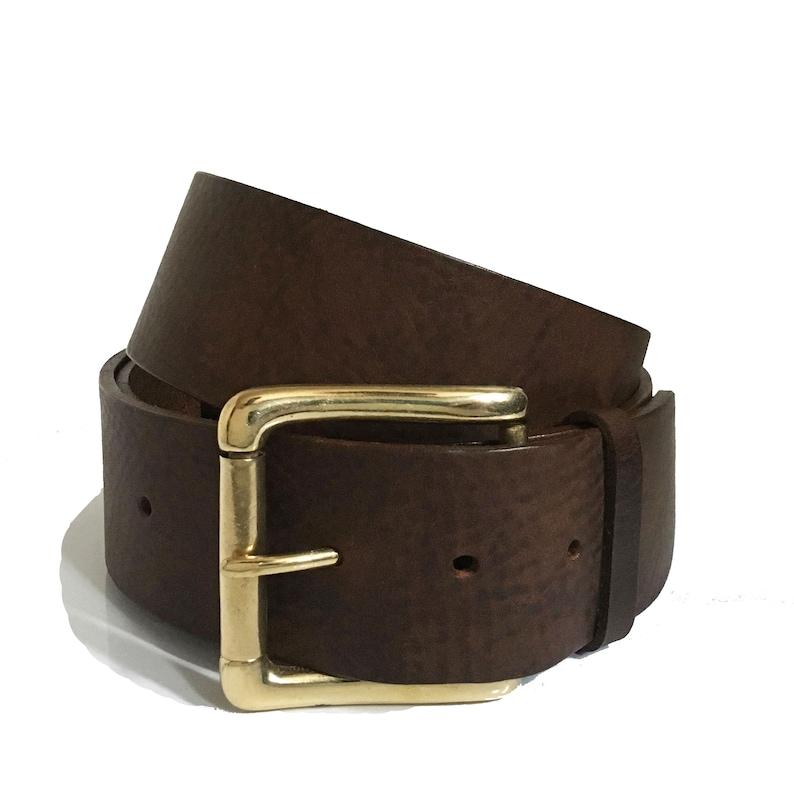 1541076335026 Boucle de ceinture marron Vintage - ceinture de 2 pouces - laiton de 2