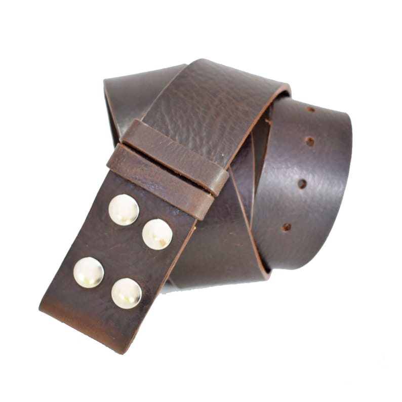 Handmade UK 50mm Leather Belt Strap 2 Inch Without Buckle Black 2 Inch Strap No Buckle No Buckle Snap on Strap Western Buckle