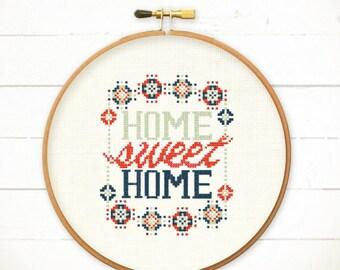 Cross stitch Home cross stitch Modern cross stitch Funny cross stitch world Home sweet home cross stitch sampler Modern Cool Home sweet home