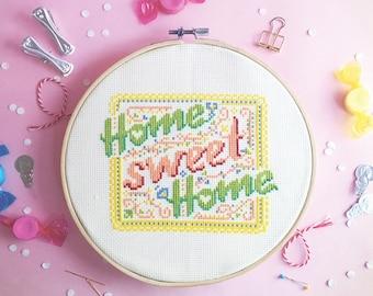 cross stitch patterns home cross stitch funny cross stitch home sweet home decorations modern cross stitch world - Spring Home Sweet home