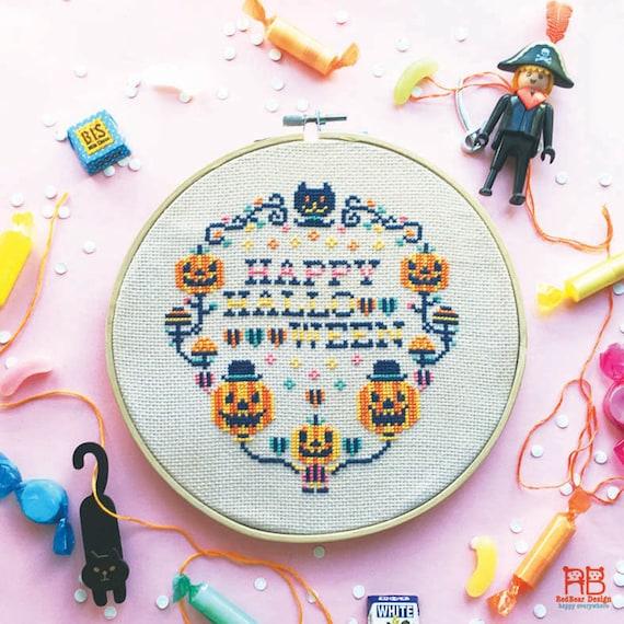 Chart Counted Cross Stitch Pattern Needlework Xstitch Yesterday/'s Halloween