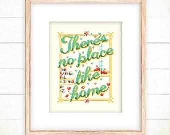 Cross stitch pattern wizard of OZ cross stitch world funny cross stitch home cross stitch modern cross stitch -There's No Place Like Home