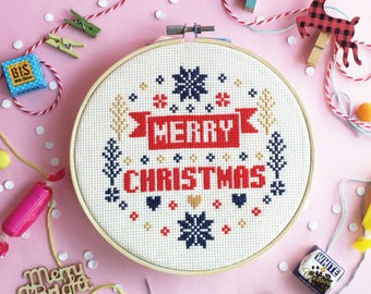 Cross stitch patterns christmas cross stitch world xmas cross stitch modern cross stitch funny cross stitch sampler - Merry Merry Christmas