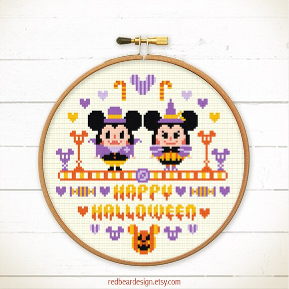 Cross Stitch Pattern Modern Halloween Disney Cross Stitch Etsy