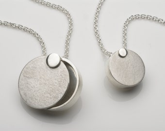 Mid- Century Moon Locket, a modern keepsake