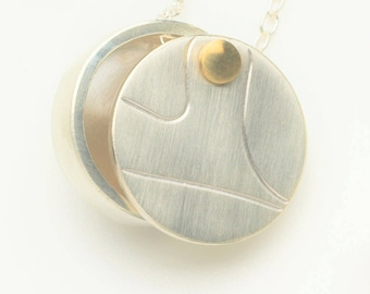 Silver and Gold Heart Locket