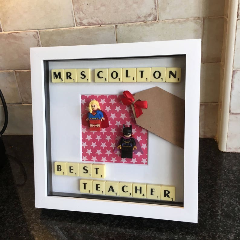 Female Teacher Mini Superhero Figure Thank You Frame