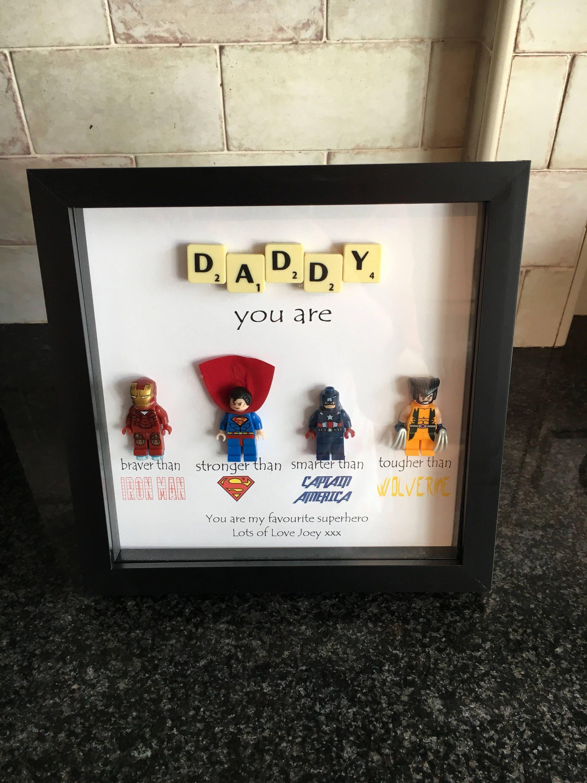 Papa-Superhelden-Rahmen personalisiert hergestellt auf   Etsy