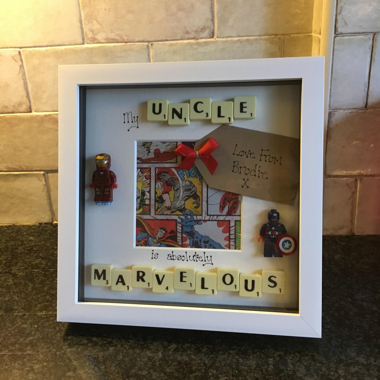 Onkel Superhelden Rahmen personalisiert hergestellt auf   Etsy