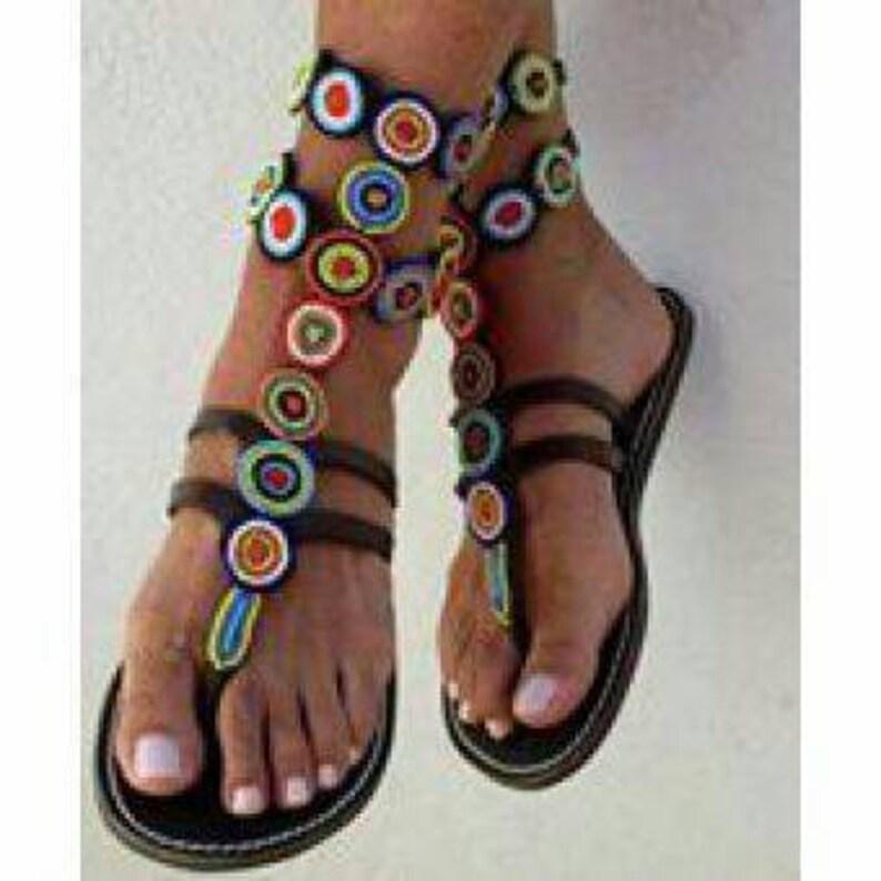 Kenyan handmade Masai masaai maasai Ankara Gladiator Sandals