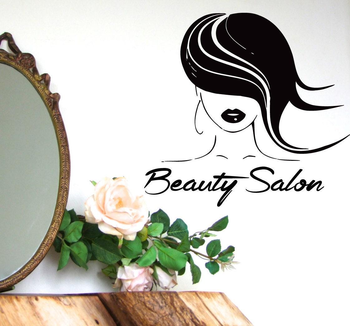 Hair Wall Decal Girl Model Hairdressing Beauty Salon Wall Etsy