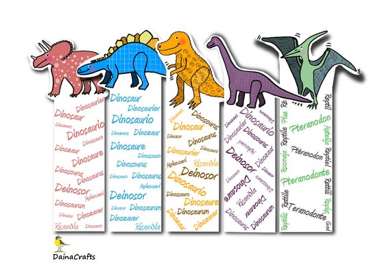 photograph relating to Printable Bookmarks Pdf identify Printable Bookmarks PDF - Dinosaur Bookmarks - Adorable Printable Bookmarks - Quick PDF Obtain - Electronic Obtain - Bookmarks for Small children
