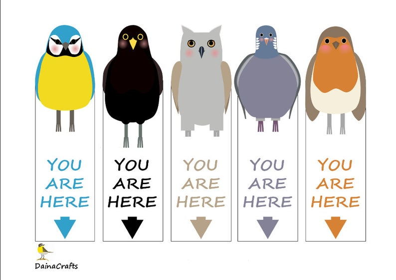 graphic about Cute Printable Bookmarks named Adorable Printable Bookmarks - Fowl Bookmarks - Backyard garden Birds - PDF Obtain - Prompt Obtain - Electronic Down load - Little ones Bookmarks