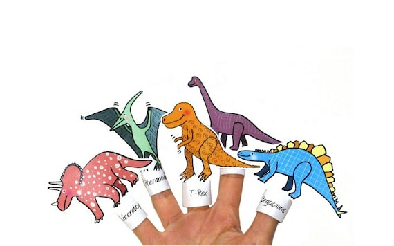 photo regarding Printable Dinosaur named Dinosaur Finger Puppets Printable - Finger Puppets Printables for Young children - Dinosaur Birthday Celebration Favour - Dinosaur Coloring Webpages Obtain