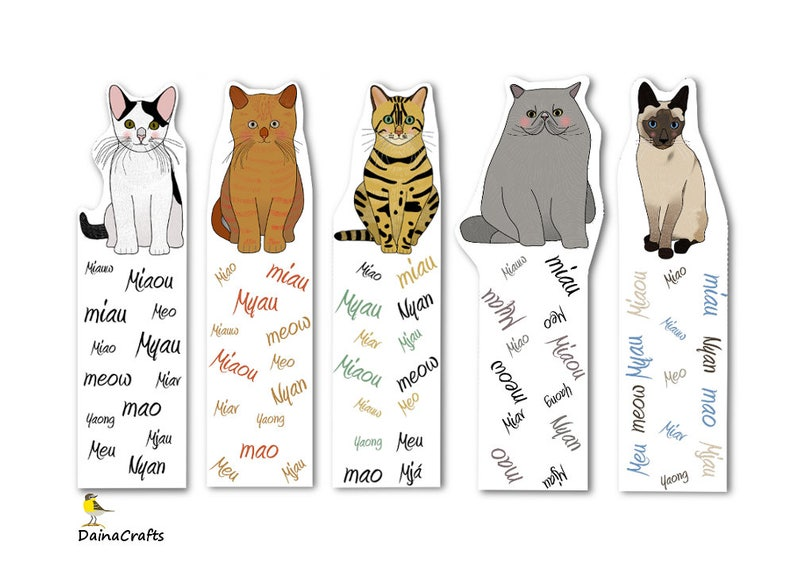photo about Printable Cats named Adorable Printable Bookmarks - Cat Bookmarks Printable - Cats Bookmarks - PDF Down load - Quick Obtain - Electronic Down load