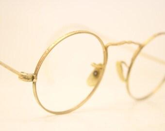 d11855b5b354 American Optical Round Antique Eyeglasses 1 10 12k Gold Filled Vintage  Glasses