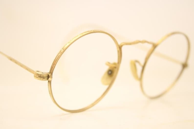 52a15bb69c72 American Optical Round Antique Eyeglasses 1 10 12k Gold Filled