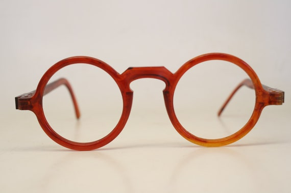4edff4e1b4 Unused Antique Eyeglass Frames 40mm Red Vintage Eyeglasses