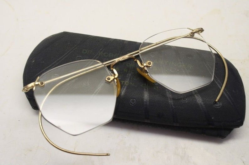 c5fd9fa7abb Antique Eyeglasses 1 10 12k Gold Filled Shuron Rimless Ful-Vue