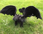 Nightfury Toothless How to Train Your Dragon US PDF Crochet Pattern
