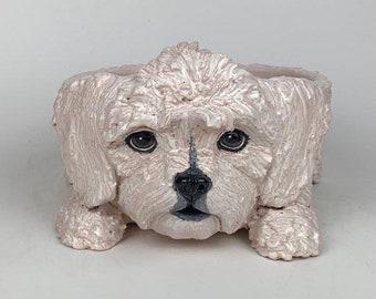 Pet Portrait Dog Bowls Personalised Bowl Custom Bowl Dog Bowl Cockapoo Pet Bowl Personalized Bowl Ceramic Bowl Ceramic Dog Bowl