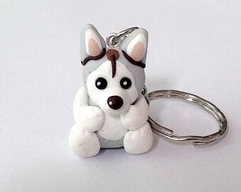 Husky Keychain Etsy
