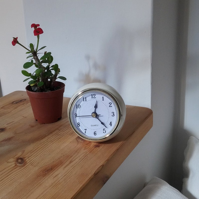 Desk Clock Table Clock Small Clock Ball Clock Retro Clock Etsy