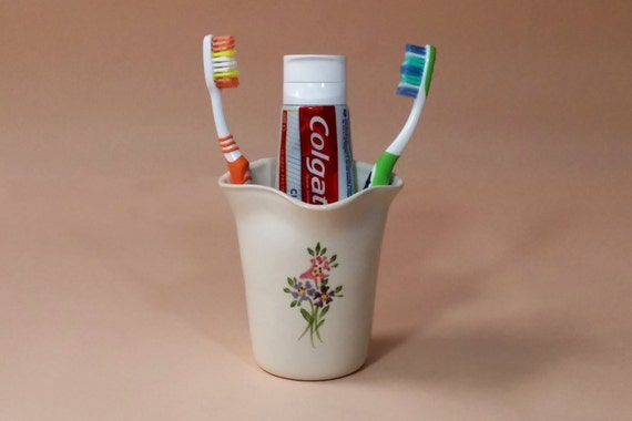 Toothbrush Holder Ceramic Toothbrush Holder Bathroom Etsy