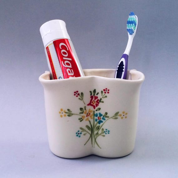 Ceramic Toothbrush Holder Ceramic Toothpaste Holder Bathroom Etsy